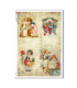 CHRISTMAS-0292. Papel de Arroz Navidad victoriano para decoupage.