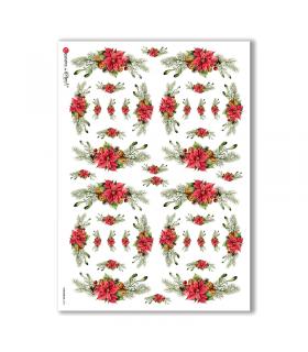 CHRISTMAS-0293. Papel de Arroz Navidad victoriano para decoupage.