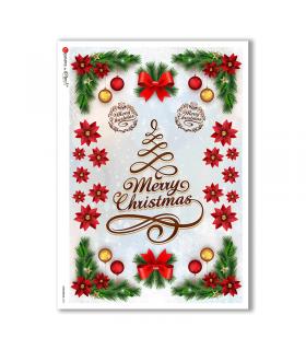 CHRISTMAS-0296. Papel de Arroz Navidad victoriano para decoupage.