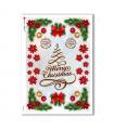 CHRISTMAS-0296. Carta di riso vittoriana Natale per decoupage.