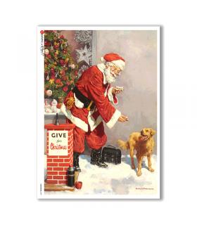 CHRISTMAS-0299. Papel de Arroz Navidad victoriano para decoupage.