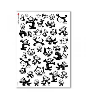 COMICS-0018. Carta di riso fumetti per decoupage.