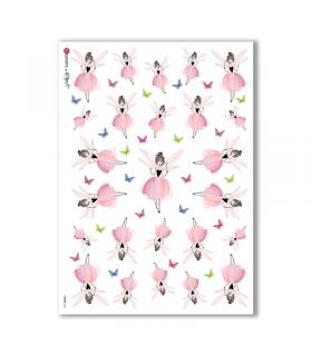 FAIRIES-0051. Rice Paper for decoupage fairies.