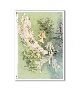 FAIRIES-0054. Rice Paper for decoupage fairies.