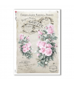 FLOWERS_0316. Carta di riso vittoriana fiori per decoupage.