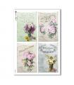 FLOWERS_0319. Papel de Arroz victoriano flores para decoupage.