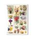 FLOWERS_0321. Carta di riso vittoriana fiori per decoupage.