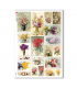 FLOWERS_0321. Papel de Arroz victoriano flores para decoupage.