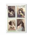 OLD-PHOTOS-0085. Papel de Arroz victoriano para decoupage.