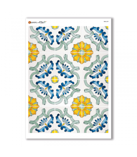 TILES-0029. Papel de Arroz azulejos para decoupage.