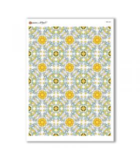 TILES-0030. Papel de Arroz azulejos para decoupage.