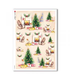CHRISTMAS-0137. Papel de Arroz Navidad para decoupage.