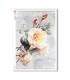 FLOWERS_0322. Carta di riso vittoriana fiori per decoupage.