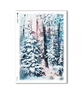 CHRISTMAS-0138. Carta di riso Natale per decoupage.