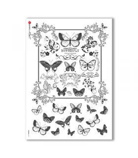 ANIMALS-0121. Carta di riso animali per decoupage.