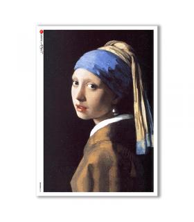 ARTWORK-0081. Carta di riso opere d'arte per decoupage.