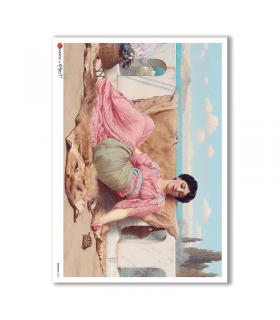 ARTWORK-0083. Carta di riso opere d'arte per decoupage.