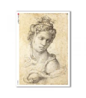 ARTWORK-0085. Carta di riso opere d'arte per decoupage.