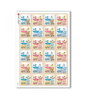 BABY-0069. Carta di riso bambini per decoupage.