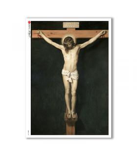 CULT-0144. Papel de Arroz sacras para decoupage.