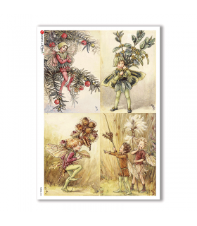 FAIRIES-0058. Rice Paper for decoupage fairies.