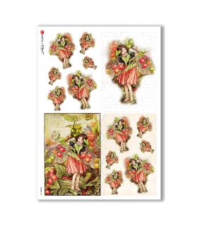 FAIRIES-0061. Rice Paper for decoupage fairies.