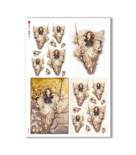 FAIRIES-0062. Rice Paper for decoupage fairies.