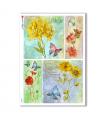 FLOWERS_0323. Papel de Arroz victoriano flores para decoupage.