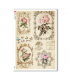 FLOWERS_0329. Carta di riso vittoriana fiori per decoupage.