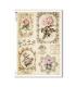 FLOWERS_0329. Papel de Arroz victoriano flores para decoupage.