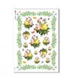 FLOWERS_0336. Carta di riso vittoriana fiori per decoupage.