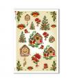 CHRISTMAS-0145. Carta di riso Natale per decoupage.