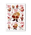 CHRISTMAS-0146. Carta di riso Natale per decoupage.