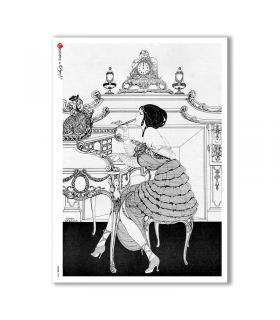SCENE-0082. Carta di riso pittorico per decoupage.