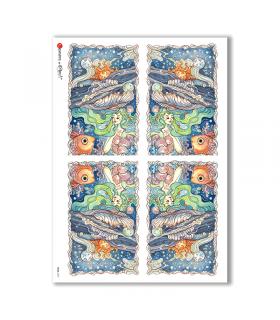 TALES-0037. Carta di riso fiabe per decoupage.