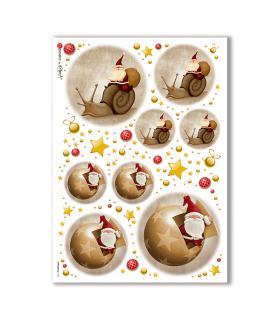 CHRISTMAS-0149. Carta di riso Natale per decoupage.