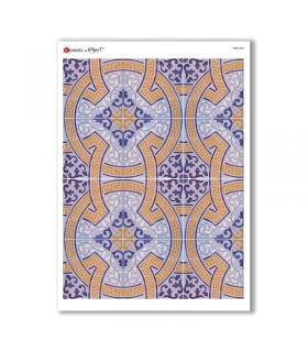 TILES-0032. Papel de Arroz azulejos para decoupage.