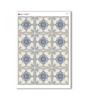 TILES-0034. Papel de Arroz azulejos para decoupage.