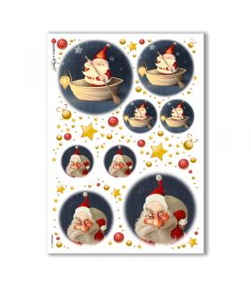 CHRISTMAS-0151. Carta di riso Natale per decoupage.