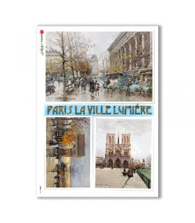 VIEWS-0145. Carta di Riso paesaggi per decoupage