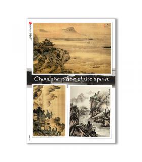 VIEWS-0147. Landscape Rice paper  for the decoupage.