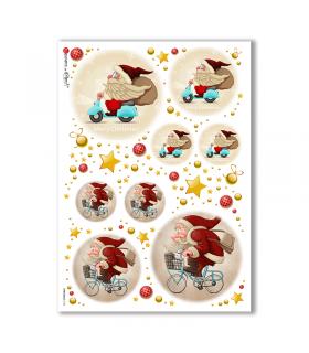 CHRISTMAS-0152. Carta di riso Natale per decoupage.