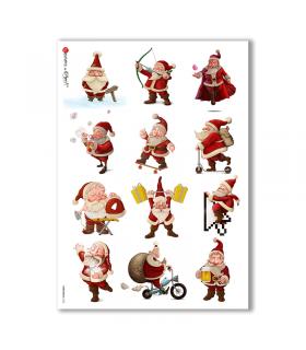 CHRISTMAS-0153. Carta di riso Natale per decoupage.