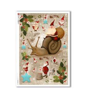CHRISTMAS-0154. Papel de Arroz Navidad para decoupage.
