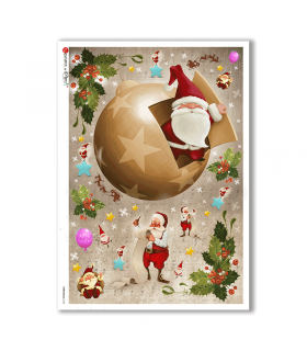 CHRISTMAS-0156. Christmas Rice Paper for decoupage.