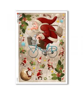 CHRISTMAS-0157. Papel de Arroz Navidad para decoupage.