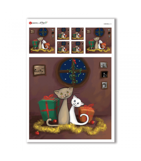 CHRISTMAS-0161. Christmas Rice Paper for decoupage.
