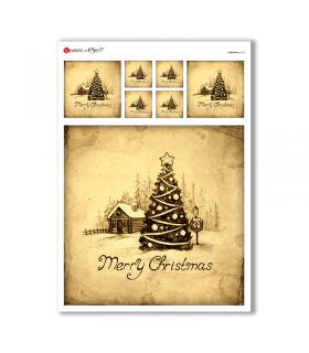 CHRISTMAS-0162. Papel de Arroz Navidad para decoupage.