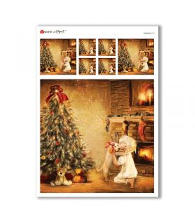 CHRISTMAS-0163. Papel de Arroz Navidad para decoupage.