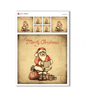 CHRISTMAS-0164. Papel de Arroz Navidad para decoupage.